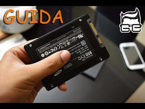 Installare SSD e sistema operativo su Notebook