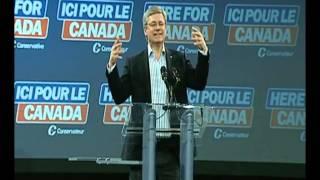 PM Harper does comedy impersonations of PM Joe Clark & Brian Mulroney