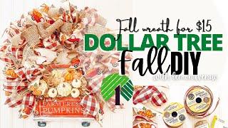 DOLLAR TREE FALL DIY | Fall Wreath | $15
