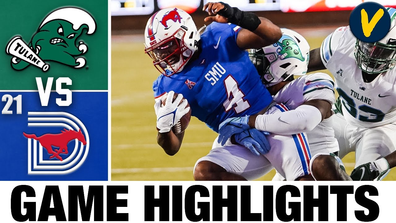 Tulane vs #21 SMU   College Football Highlights
