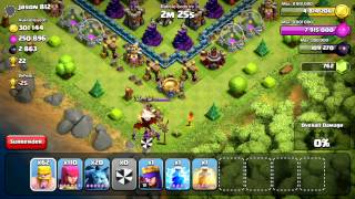 MAXED TH10 550K LOOT+ 3K Dark Elixer BAM- Clash of Clans Dargon and Archer Queen