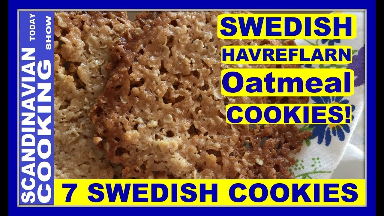 How To Make Swedish Havreflarn Oatmeal Cookies 5 Easy Ingredients