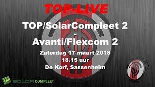TOP/SolarCompleet 2 tegen Avanti/Flexcom 2, zaterdag 17 maart 2018