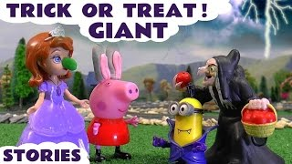 halloween trick or treat stories   peppa pig play doh thomas and friends minions sofia the first