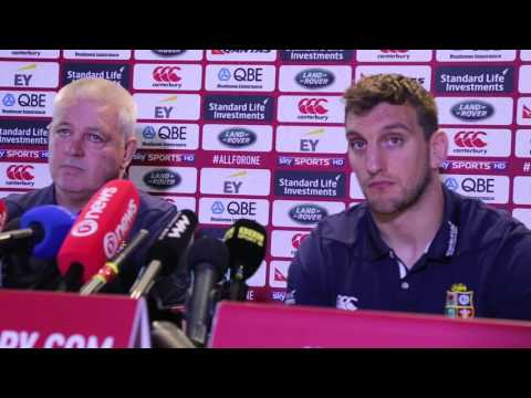 Warren Gatland & Sam Warburton LIONS 3rd Test Selection vs A