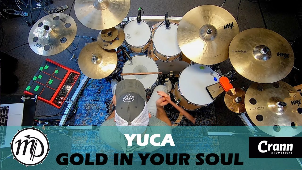 YUCA - Gold In Your Soul - Drum Cover Drumeo (Rock) PEARL Maple Gum