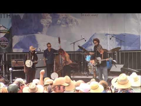 Rhiannon Giddens at the Targhee Bluegrass Festival August 13, 2017