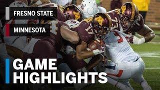 Highlights: Fresno State Bulldogs vs. Minnesota Golden Gophers | Big Ten Football