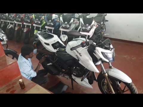 Tvs Apachi 200 starting steps @ Muthur Show Room