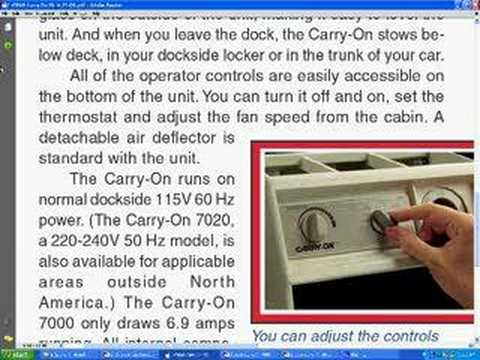 Marine Air Conditioning Dometic Cruisair Carry-On