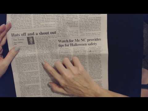 ASMR | Reading Newspaper Articles (Soft Spoken)
