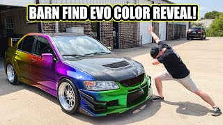 homepage tile video photo for BARN FIND EVO VIII COLOR REVEAL! - IT'S INSANE!!