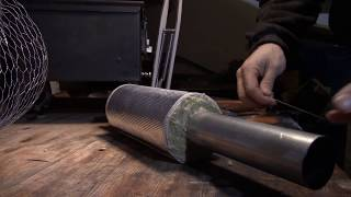 Making a Heat Shield for Homemade Ammo Can Tent Stove Pipe