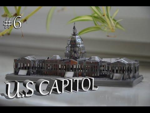 U.S Capitol 3D Metal model kit, metalowe puzzle #5