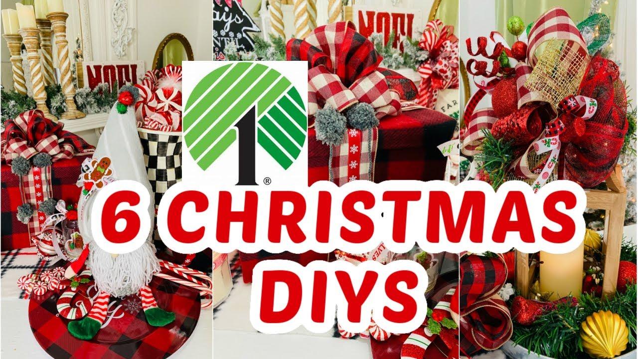 "🎄6 DIY DOLLAR TREE CHRISTMAS DECOR CRAFTS 🎄""I Love Christmas"" ep. 1 Olivia's Romantic Home DIY"