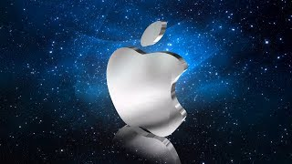 Apple logo design with aurora 3D text and logo maker