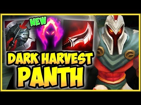 PANTH 100% CRIT PASSIVE + NEW DARK HARVEST IS 100% TOO OP! PANTHEON SEASON 9! - League of Legends