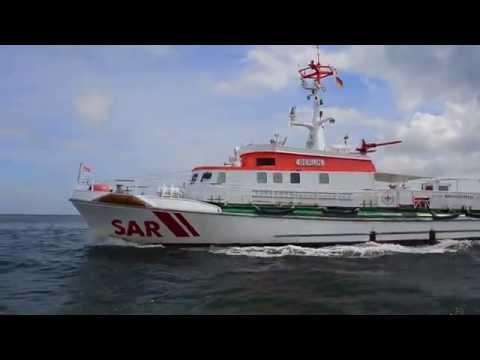 Shipsforsale Sweden, Berlin, Lurssen shipyard German rescue ship for sale. DGzRS.
