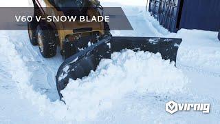 Virnig Manufacturing V-Snow Blade Skid Steer Loader Attachment