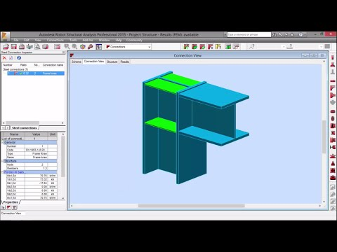 Exercise 6 - Part 2 - 3D Steel Structure with Steel Connections (Robot Structural Analysis)