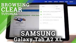 Delete Browsing History in SAMSUNG Galaxy Tab A2 XL - Erase Browser Data