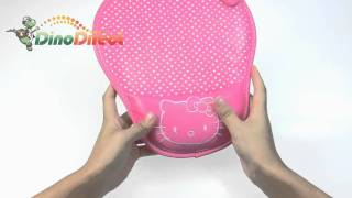 Lovely Hello Kitty Round Solid Wrist Rest Pillow Leather Mouse Pad  from Dinodirect.com