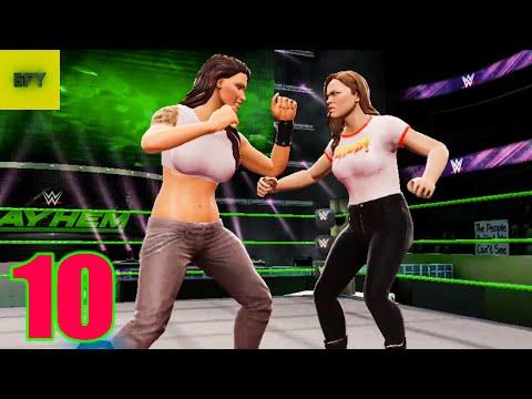 LITA vs RONDA ROUSEY/ SONYA DEVILLE WWE Mayhem EP.10 HD