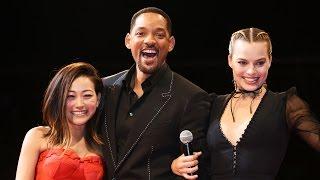 WILL SMITH, MARGOT ROBBIE, KAREN FUKUHARA at Suicide Squad Japan Premiere! 「スーサイド・スクワッド」ジャパンプレミア