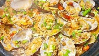 【姜葱炒花甲的做法】教你饭店老厨师姜葱炒花甲秘诀,一大盘不够吃