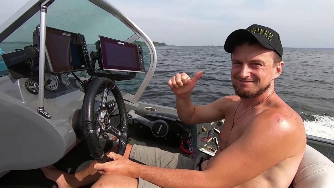 Ловля судака на Днепре с лодки 2020