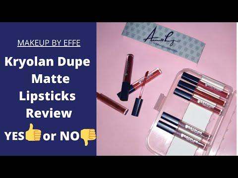 Kryolan dupe liquid matte lipsticks review (Urdu/Hindi)