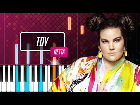 """Netta - """"Toy"""" Piano Tutorial (Israel 2018 Eurovision winner) - Chords - How To Play - Cover"""