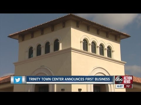 A Pasco County development, Trinity Town Center, gets first business