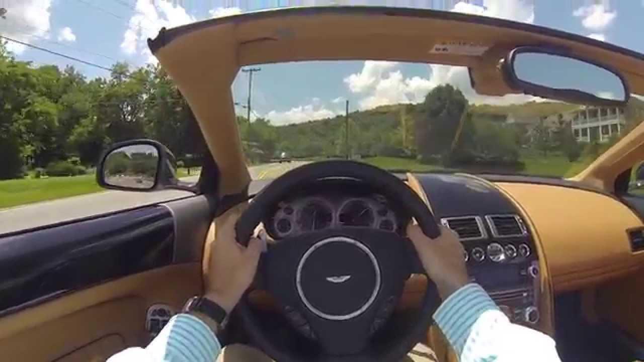 2014 Aston Martin Db9 Volante Pov Test Drive Youtube