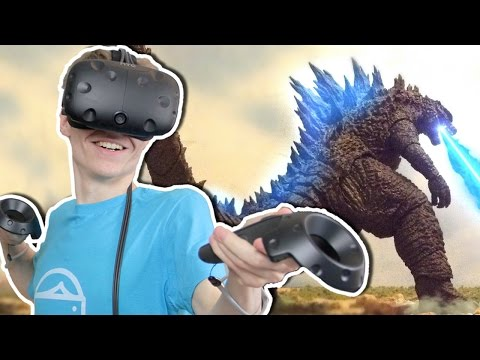 BECOME GODZILLA IN VIRTUAL REALITY!  | King Kaiju VR (HTC Vive Gameplay)