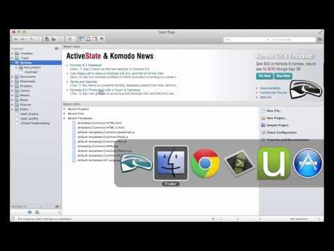 Django Tutorial -- Mac Setup (6 of 7): Komodo Edit || Coding for Entrepreneurs