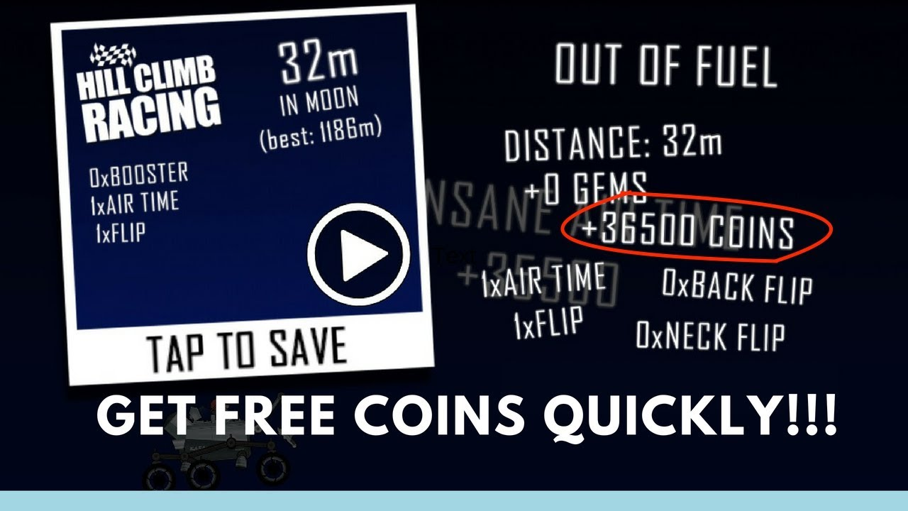 How to Get Coins in Hill Climb Racing with NO GENERATOR HACKS!