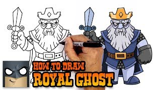 How to Draw Royal Ghost | Clash Royale (Step by Step Drawing Tutorial)