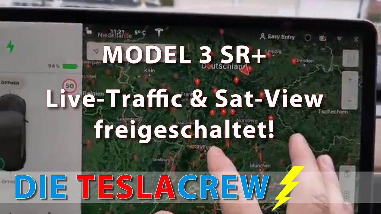 Tesla Model 3 SR+ | Live-Traffic und Satellitenansicht sind freigeschaltet