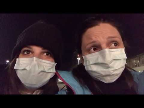 Antonella e Serena in rientro a Venezia dalla Norvegia