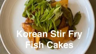 Korean Stir Fry Fish Cake