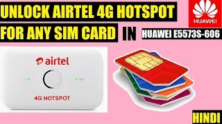 unlock airtel 4g hotspot for any sim card 4g 3g 2g huawei e5573s 660   techno authority   hindi