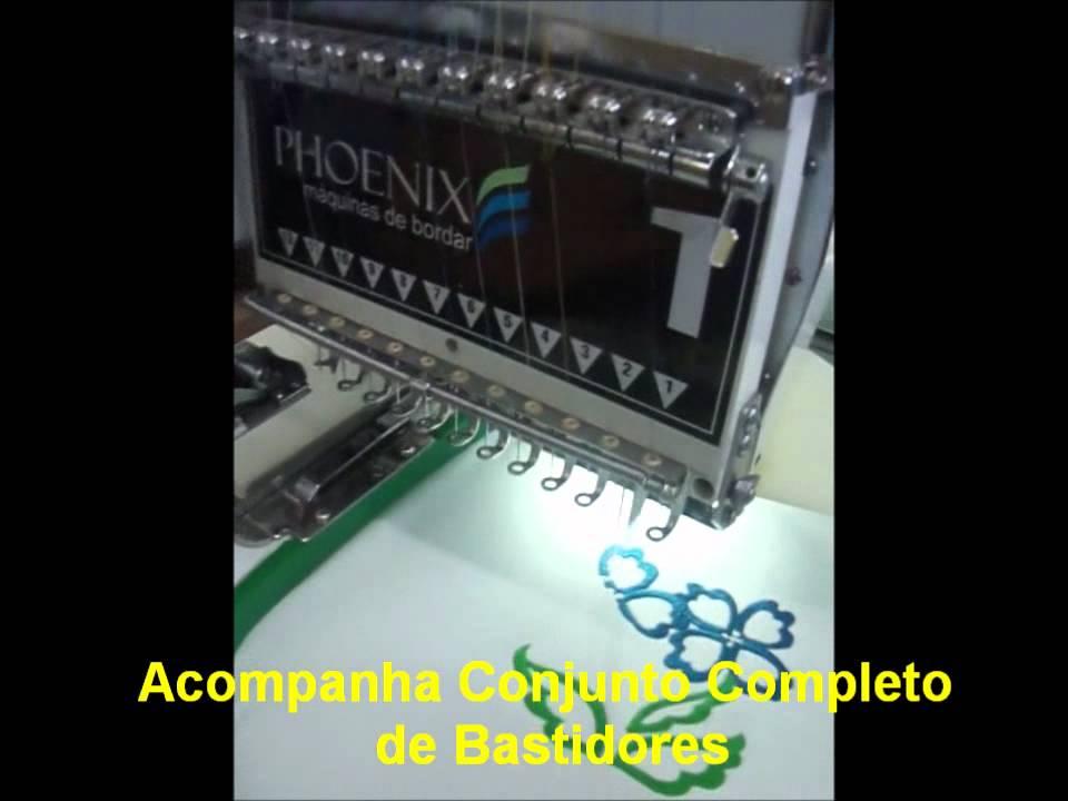 PHOENIX - MÁQUINA DE BORDAR INDUSTRIAL 1 CABEÇA - YouTube 3a6b2274abb
