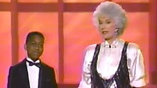 "Golden Girl Bea Arthur and Jaleel White do the ""Urkel"" dance on the American Comedy Awards in 1991."