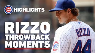 Anthony Rizzo Throwback Moments | First Home Run as a Cub, Tarp Catches, 2016 World Series