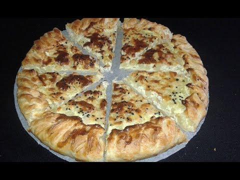 كيش-مورق-بالبطاطة-و-القشدة-quiche-feuilletée-aux-pommes-de-terre-et-la-crème-fraîche