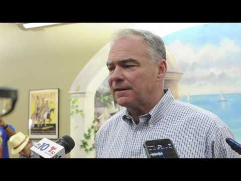 Vice presidential candidate Tim Kaine visits Bethlehem on Aug. 31, 2016