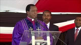 Bishop Ng'ang'as attacks everyone at Kamaru's funeral