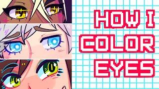 How I Color Eyes