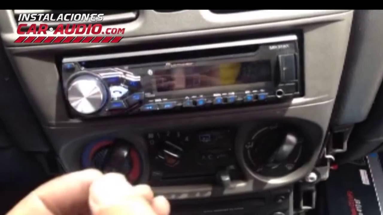 Instalaci 243 N Radio Nissan Almera 2003 Reemplazo 1 Din Youtube